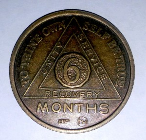 Unity, service, recovery: acknowledging 6 months of sobriety